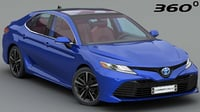 3D toyota camry xle 2018