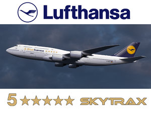 boeing 747-8 lufthansa airlines 3D