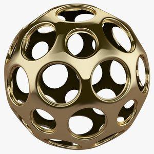 3D model object gold