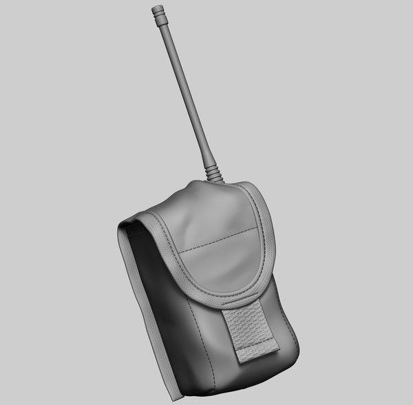 3D radio pouch model