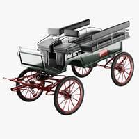 bih large wagonette 3D