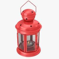 3D model red lantern