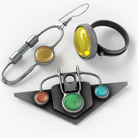 steampunk jewelery 3D model