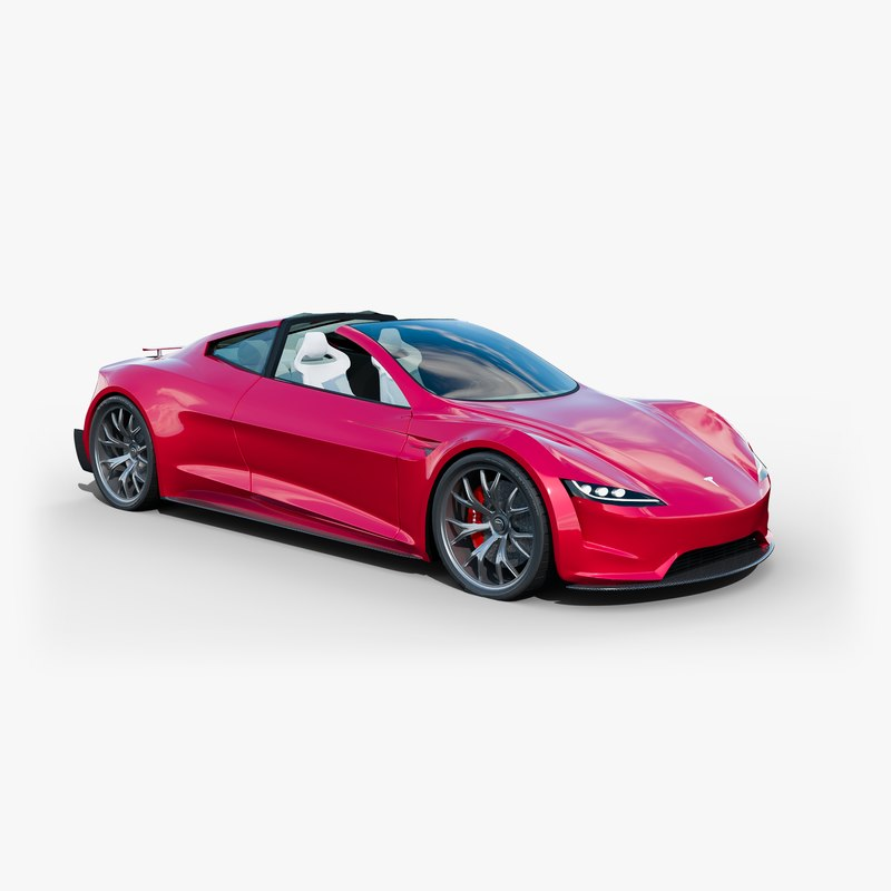 3d model new tesla roadster 2020 turbosquid 1258282. Black Bedroom Furniture Sets. Home Design Ideas