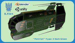 space ship patriot type 3D model