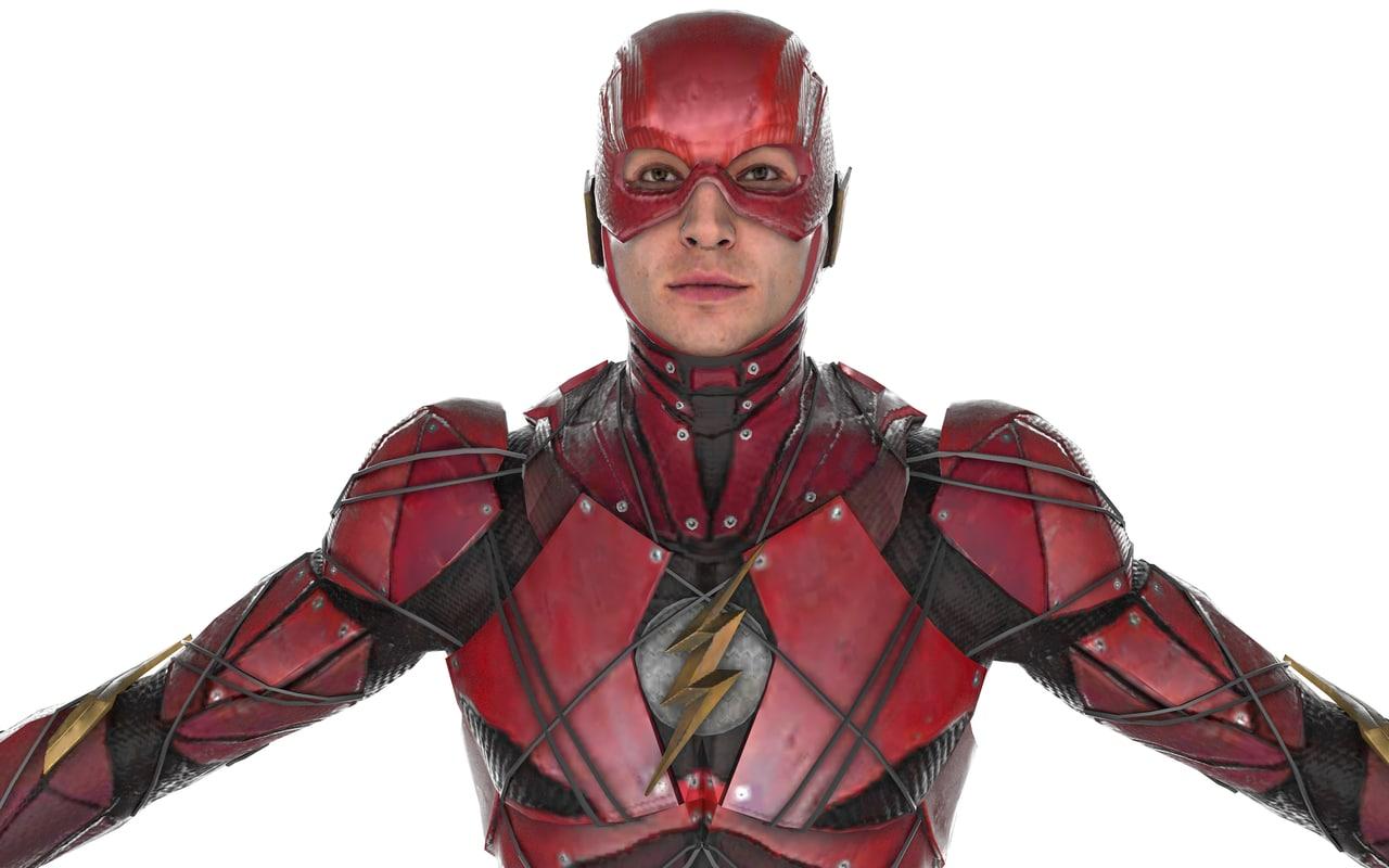 flash justice league 3D