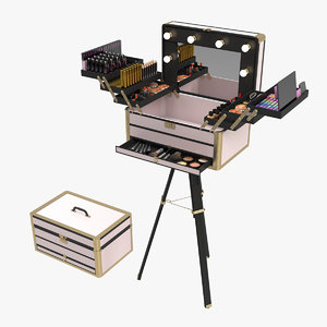3D portable makeup stand station model