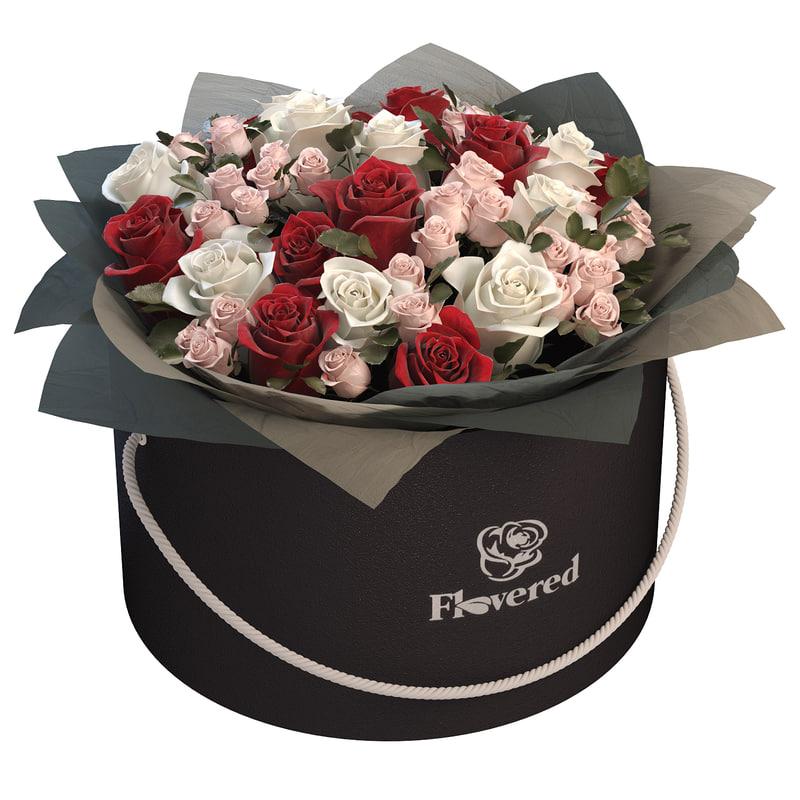 3D rose flowers