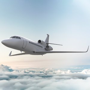 airplane dassault falcon 900lx 3D