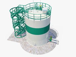 3D storage tank model