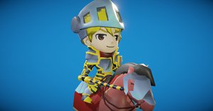 3D toon knight animation model