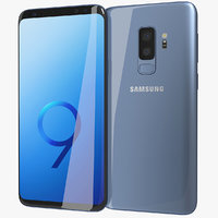 3D model realistic samsung galaxy s9