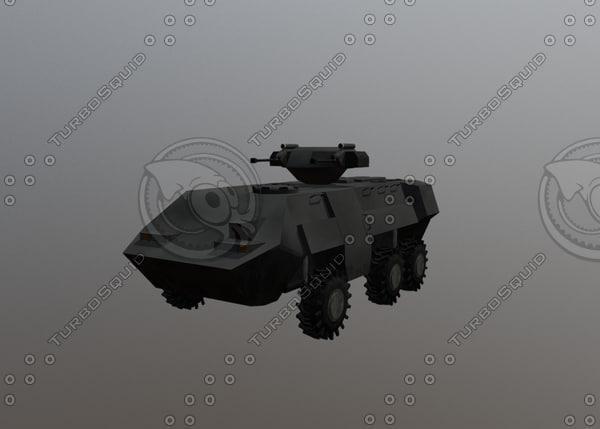 armored transport 3D model