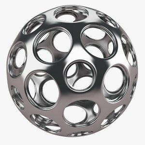 3D object silver
