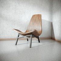 3D light coloured wooden chair