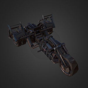 art steampunk treble bike 3D model
