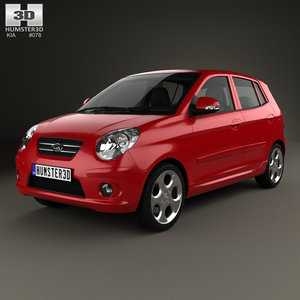 3D kia picanto morning model