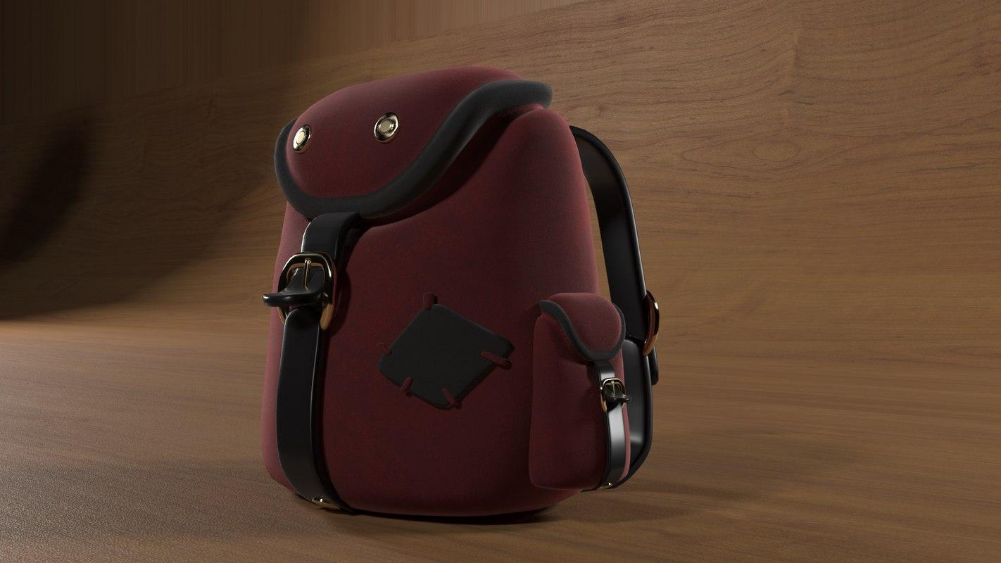 3D backpack modelled corona model