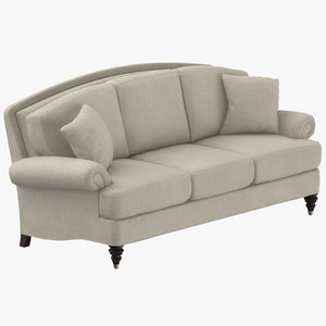 traditional 3 seater sofa 3D model