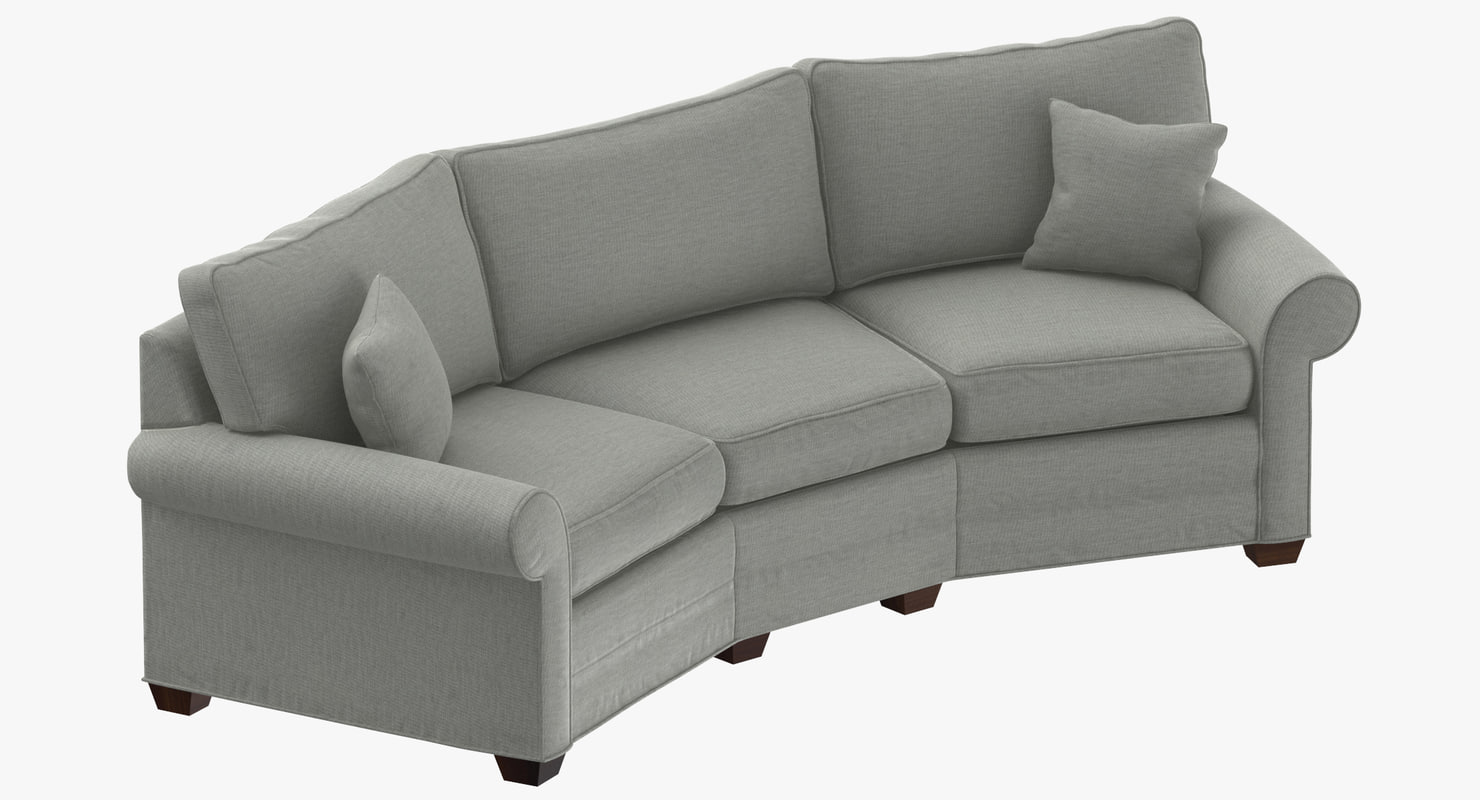 3D traditional corner sofa