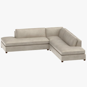 contemporary corner sofa 3D