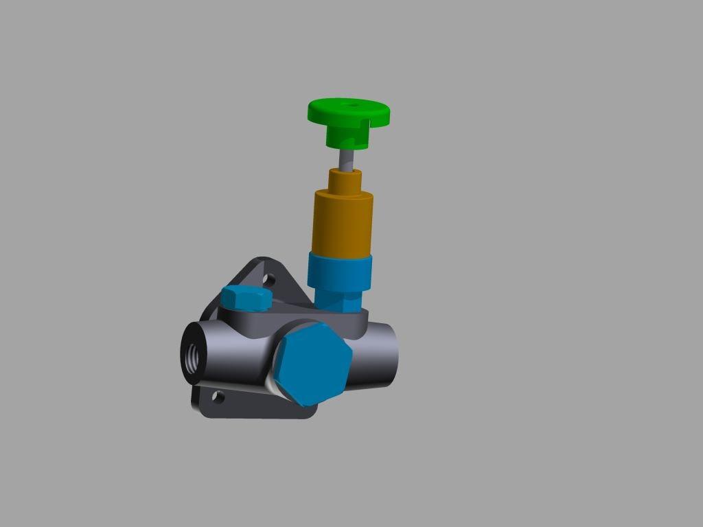 hand primer pump diesel 3D