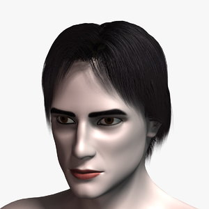3D hair cards 8 human