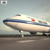 3D boeing 747 8i model