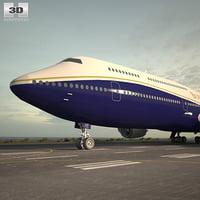 boeing 747 8i 3D model