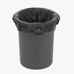 garbage trash bag 3D model