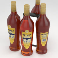 metaxa bottle brandy 3D model