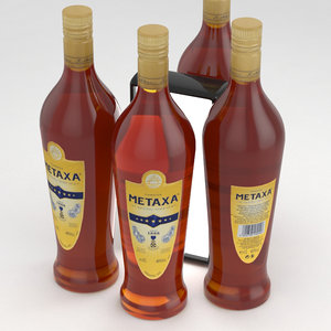 metaxa bottle brandy 3D model