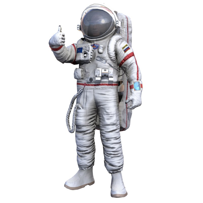 3D space suit orlan mks model