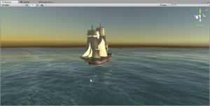 sailing ship british endeavour 3D model