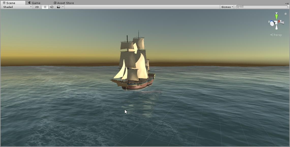 sailing ship british endeavour 3D model