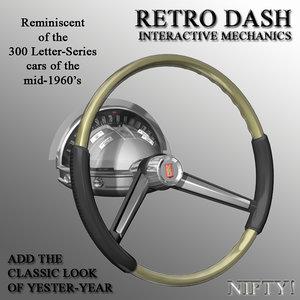 retro dash console 3D