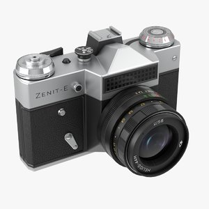 3D model photocamera zenit-e pbr