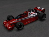 3D model brabham bt45 alfa romeo