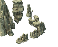 mountain rock stones 3D model