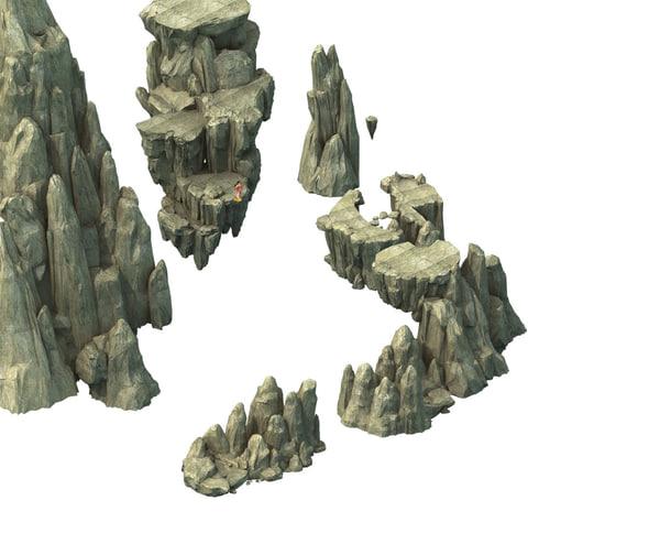 mountain rock stones 3D model