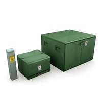 3D utility boxes model