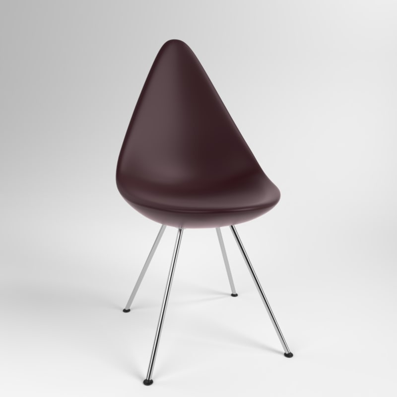 3D interior fritzhansen drop plastic model