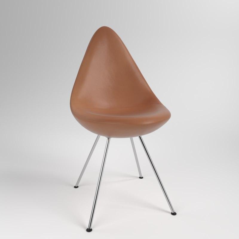 interior fritzhansen drop leather model