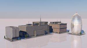 3D buildings urban model