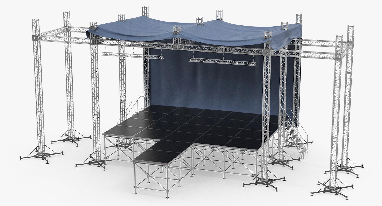 3D outdoor concert stage