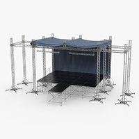 3D outdoor concert stage