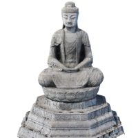 Buddha low poly