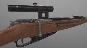 3D model rifle mosin