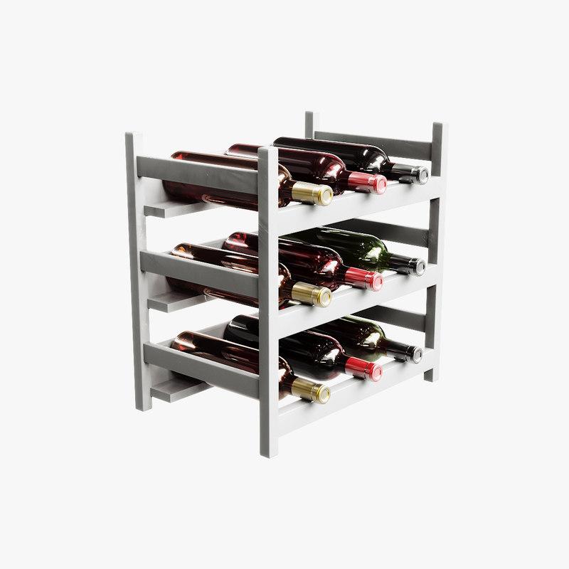 3D wine stand model