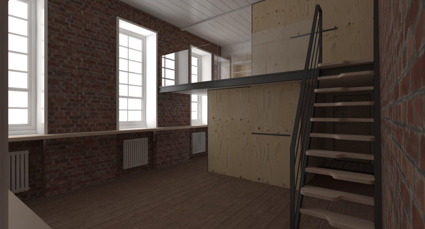 photorealistic modern interior 3D
